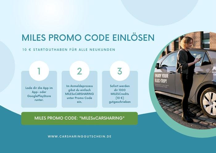 miles promo code einlösen